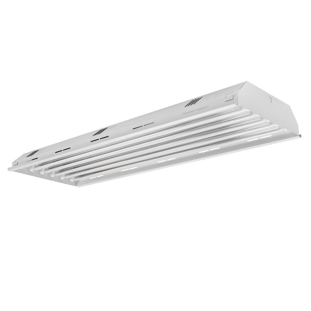 Toggled 4 Ft 6 Light White Led High Bay 4000k Led Tubes Included Fh460d0 A2340 Led Tubes Lamp Bulb Led Light Fixtures