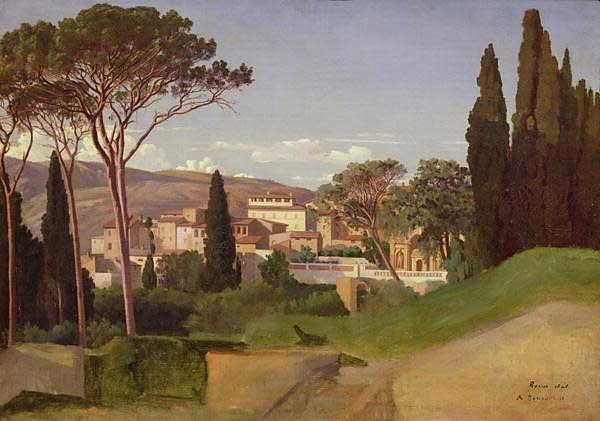 Visión moderna de una villa romana (Jean Achille Benouville).