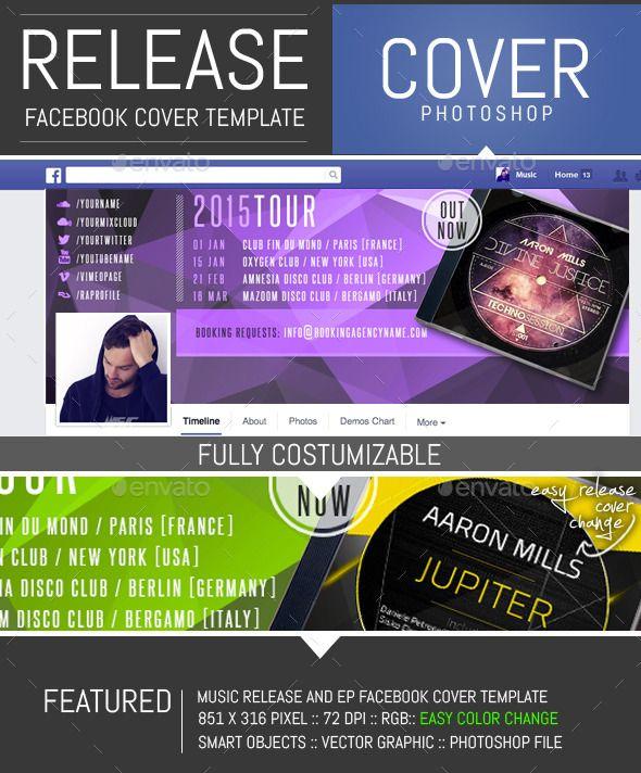 Dj Release Facebook Timeline Cover Template   Pinterest