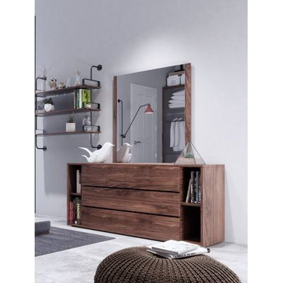 Foundry Select Defalco 6 Drawer Dresser with Mirror | Wayfair