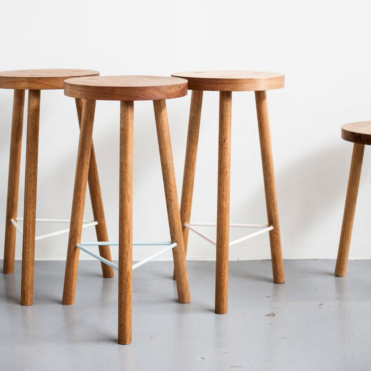 Lovely Simple Wood Bar Stools