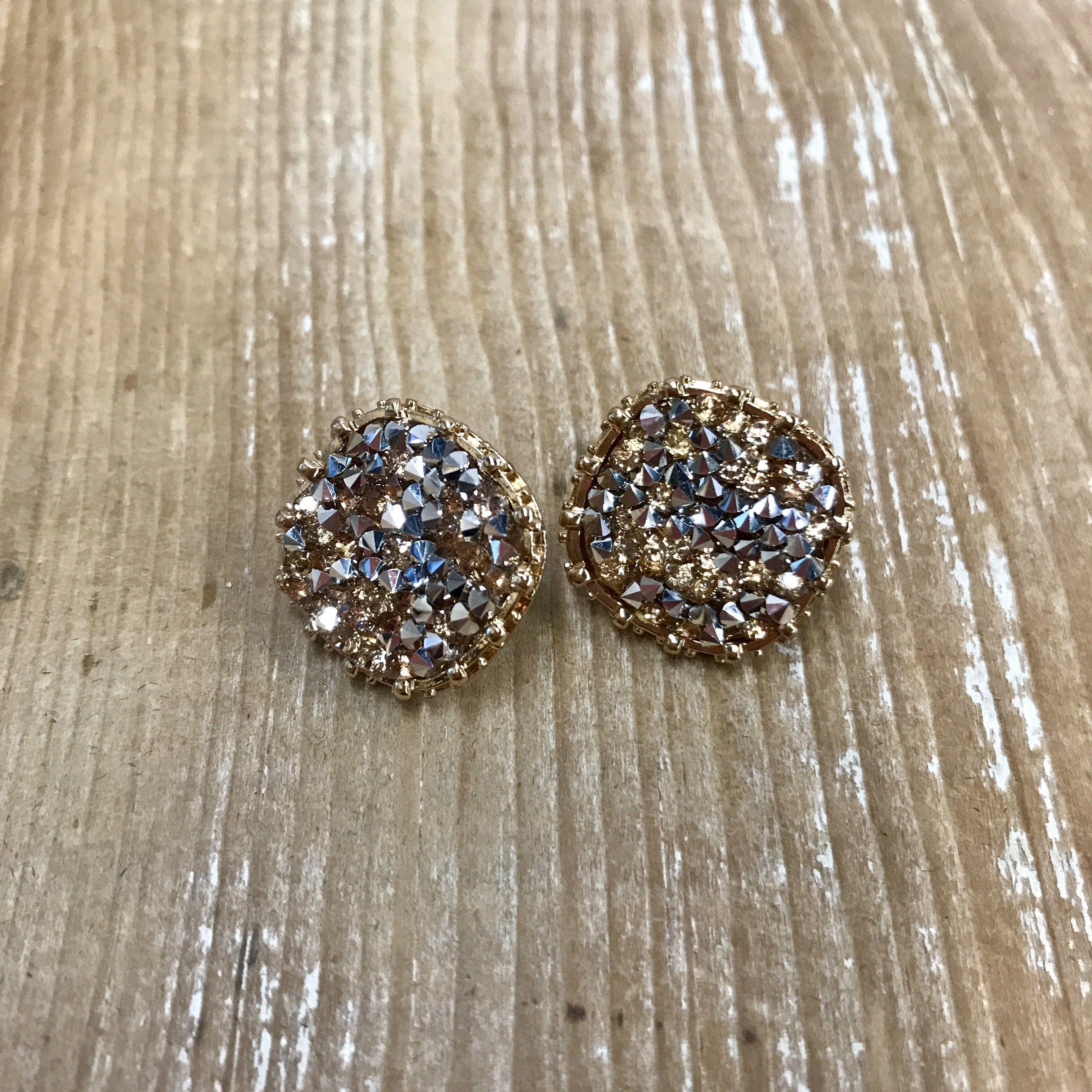 Druzy Square Earrings in Gold Products Pinterest