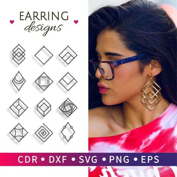 Photo of 12 Thin hoop earrings, Earrings hoop big, Minimal earrings tribal, Large hoop earrings long, Square hoop earrings, Geometric jewelry