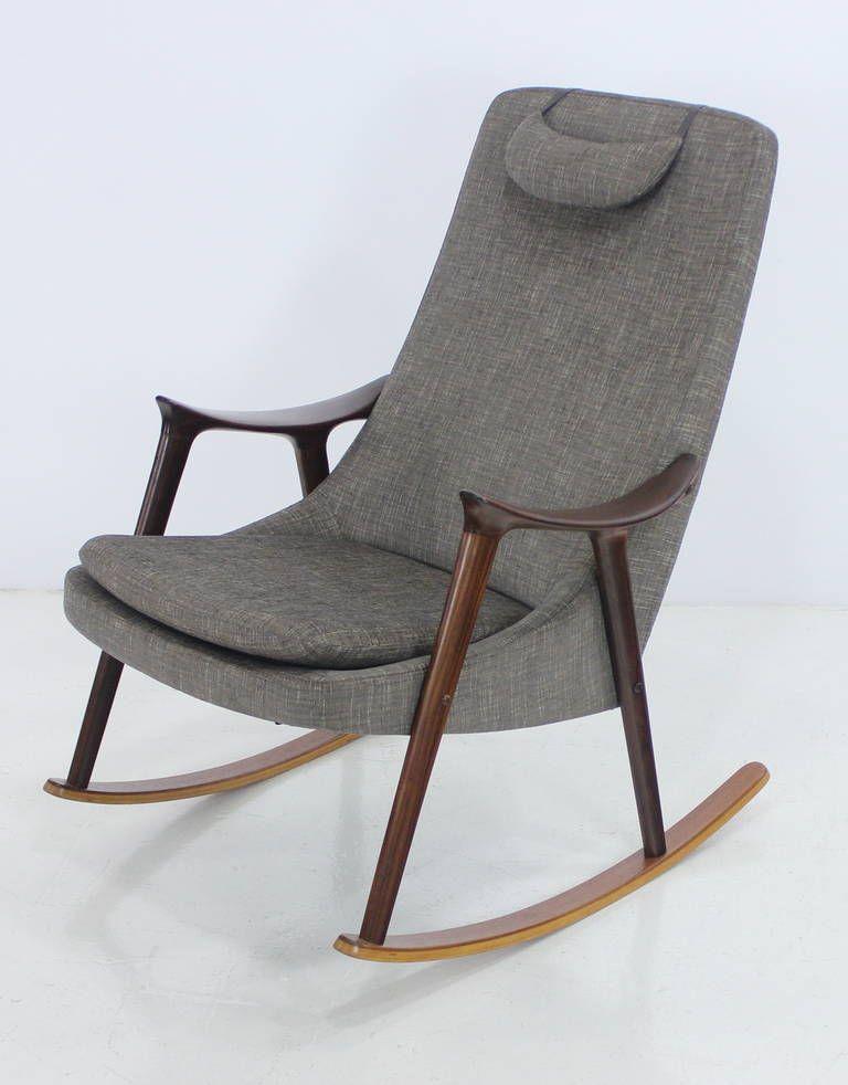 Scandinavian Modern Mahogany Teak Rocking Chair Designed Ingmar Relling 1stdibs Com Scandinavian Rocking Chairs Rocking Chair Antique Rocking Chairs
