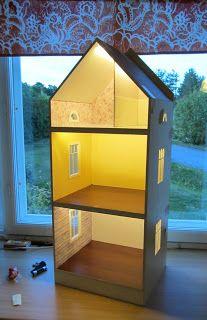 LED-valaistus IKEAn Dioder-valotikuilla #nukkekoti #nukketalo