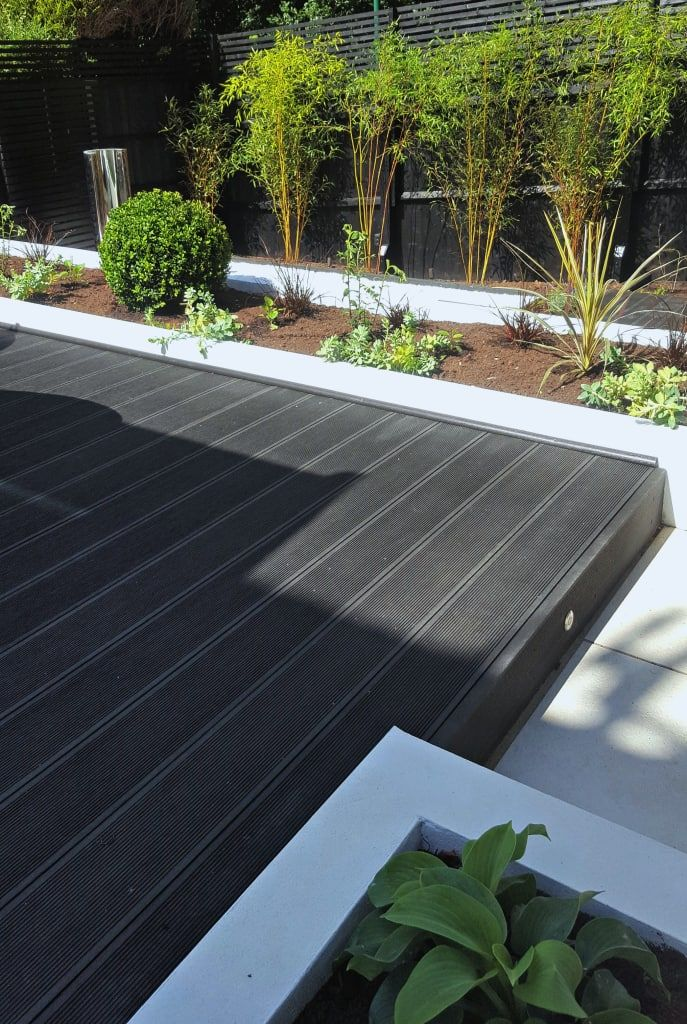 Composite decking platform garden by gardenplan design