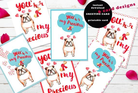 photo about Funny Printable Valentines identify Amusing printable Valentines working day card Bulldog Canine Admirers