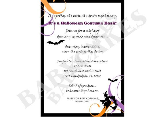 Adult Halloween Party Invitation Costume Party   IY by jcbabycakes, $12.00