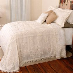 overstock com this enchanting chenille bedspread features a