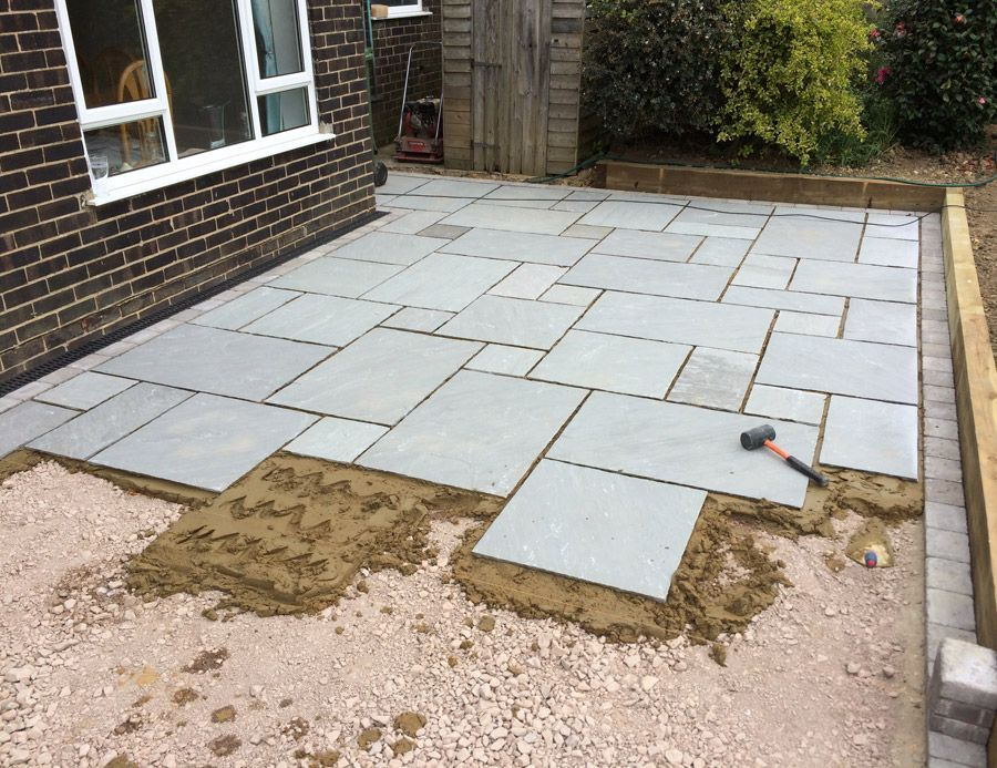 Review How To Install Flagstone Patio Diy Stone Patio Patio