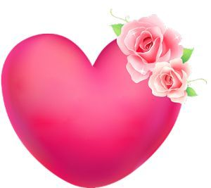 Pink Rose Heart I Love Happy My Background
