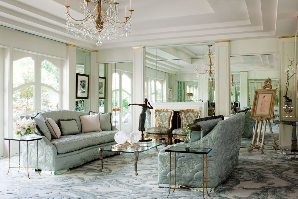 Beautiful In The Boudoir Sitting Room Quilted Nancy Corzine Sofas With