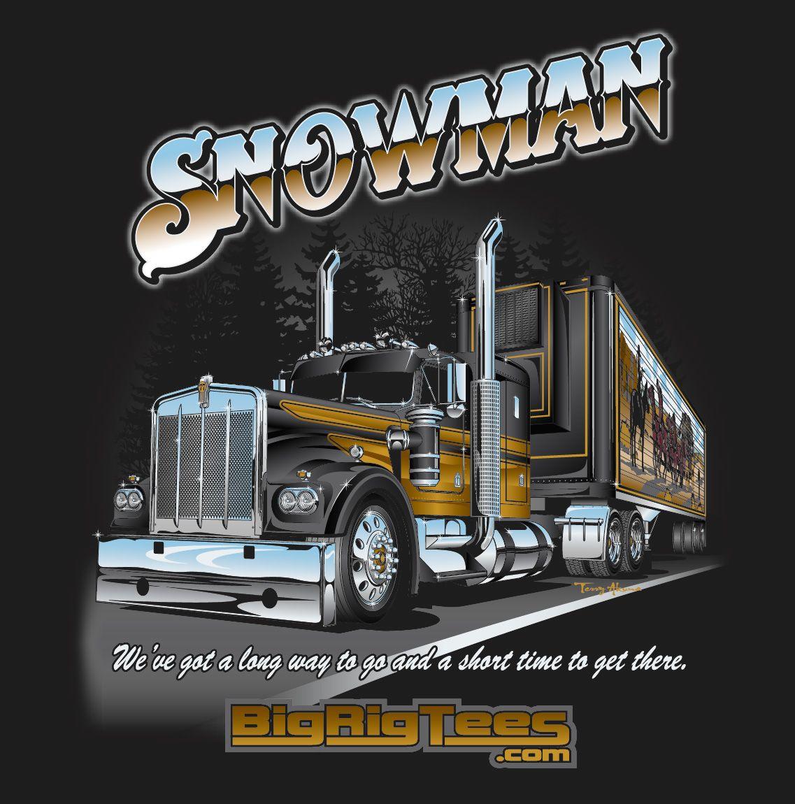Snowman (Bandit). Back Tshirt design for BRT's retail