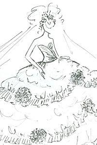 i want a custom dress sketch