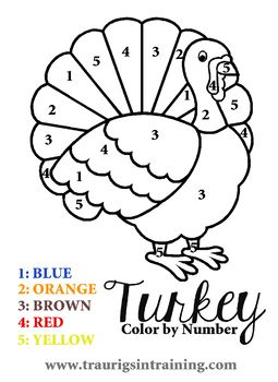 Color by Number Thanksgiving Turkey #thanksgivingcrafts
