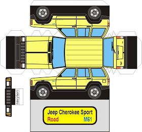 Sp Papel Modelismo Papercraft Jeep Cherokee Sport Jeep Stuff