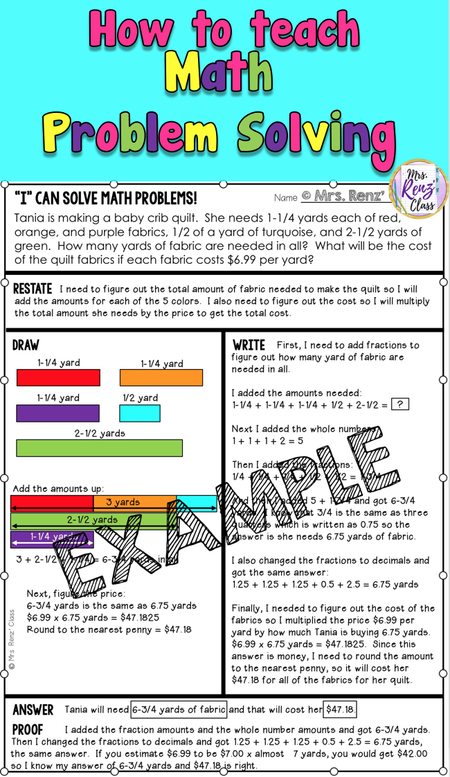 006 How to teach math problem solving for 4th grade math