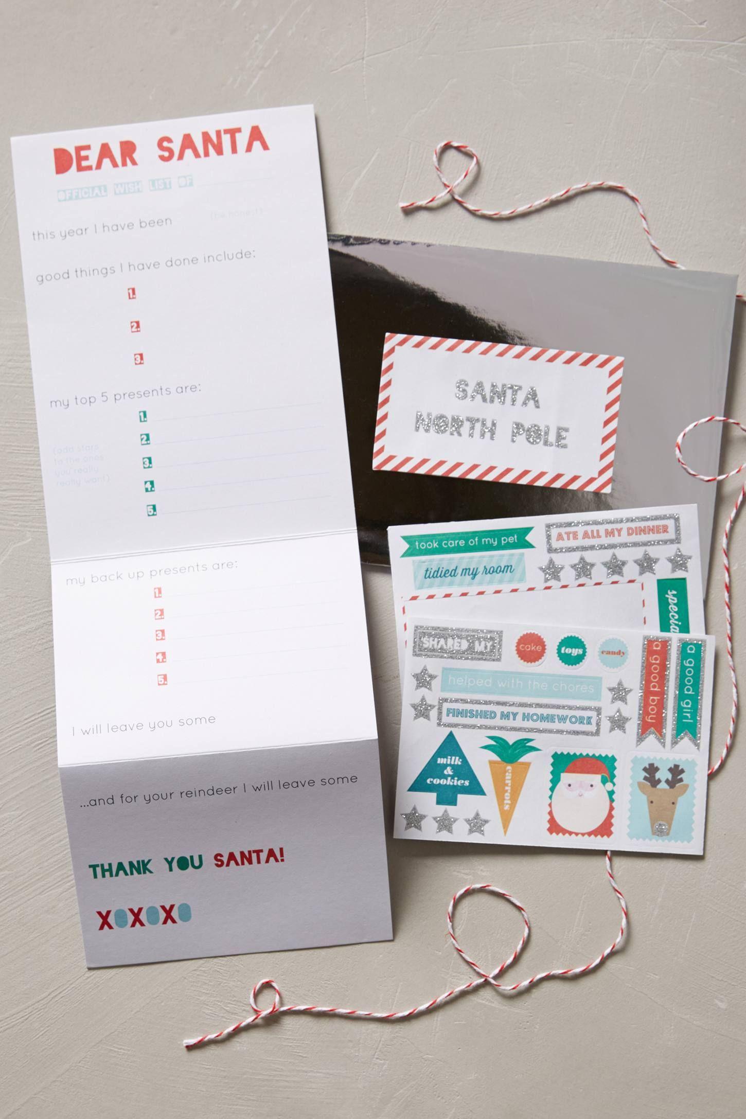 Dear Santa Letter Kit anthropologie Typography
