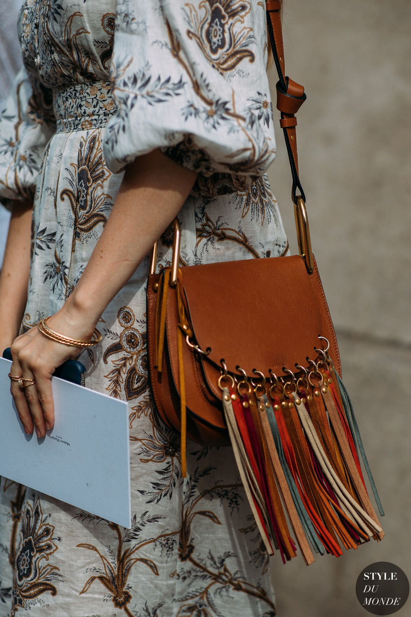 Haute couture fall winter street style chloe bag