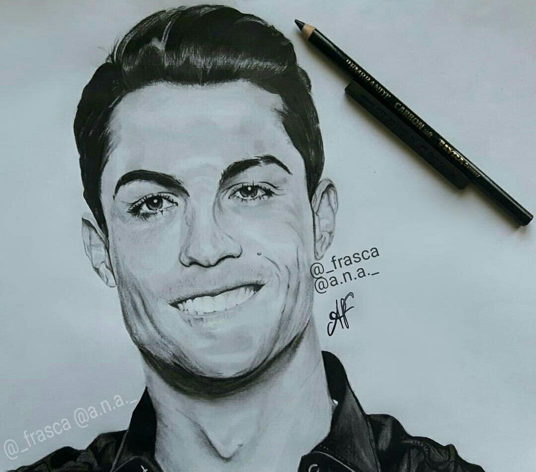 Nice Drawing Of Cristiano Ronaldo Goodnight Photos From Instagram Frasca Ronaldo Messi Pictures Goodnight Photos