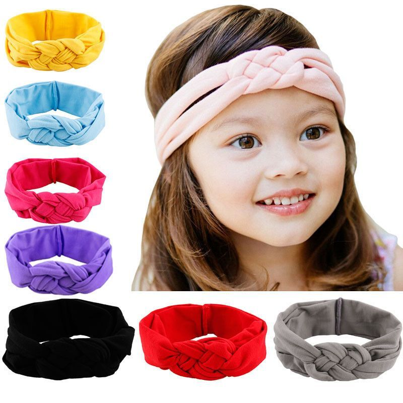 Baby Toddler Girls Kids Bow Knot Hair Band Cute Newborn Turban Elastic Head wrap