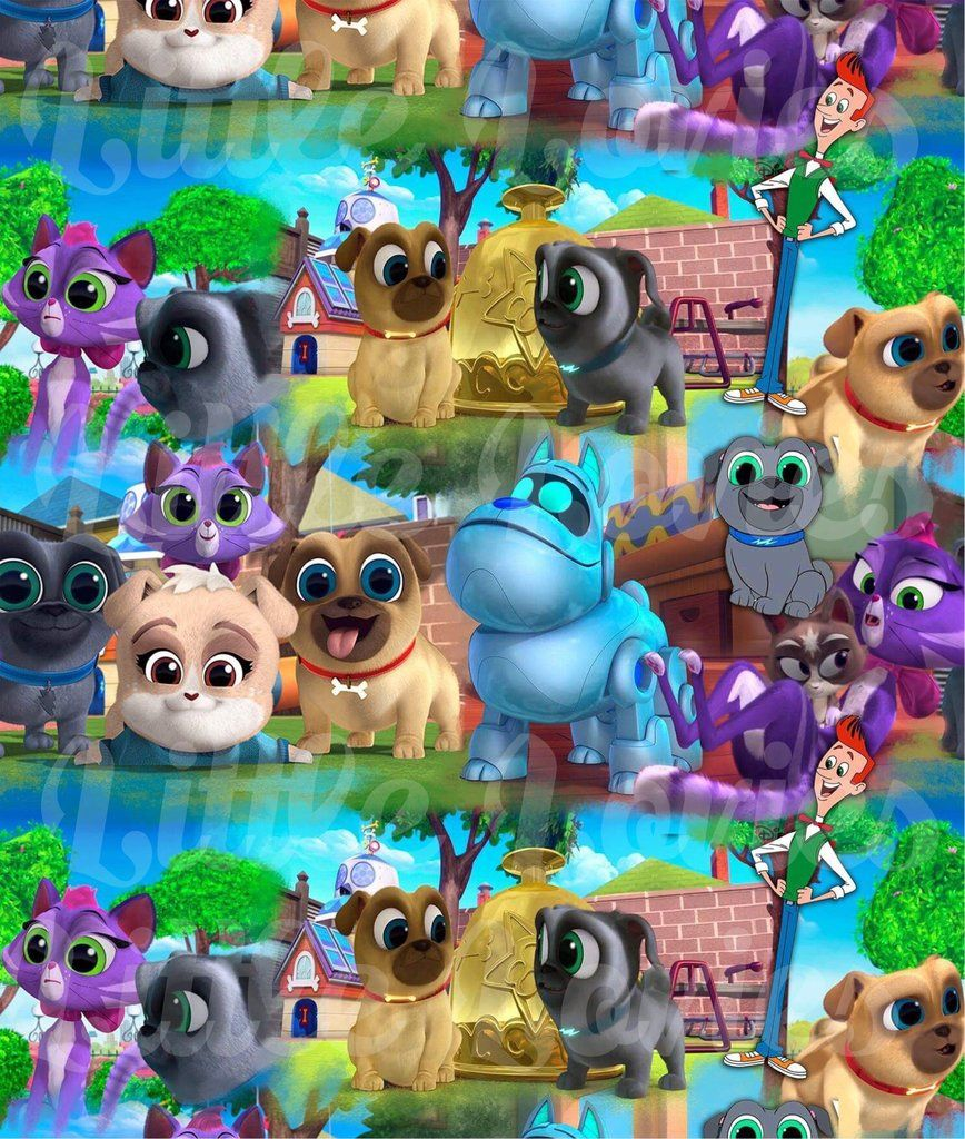 Puppy dog pals fabric Dogs and puppies, Puppies, Fabric