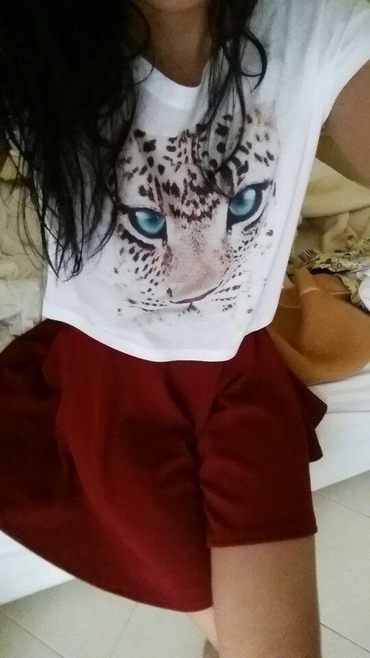 Tiger print crop top