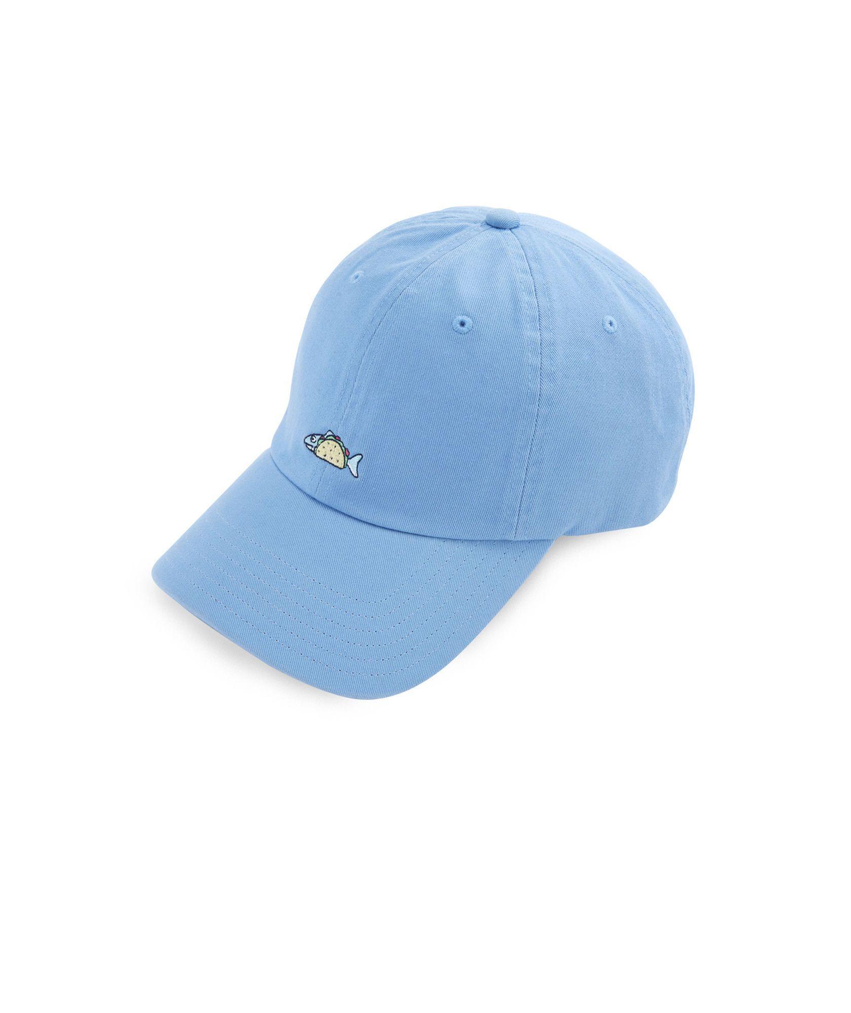 5f1ddae3505 Vineyard Vines Fish Taco Logo Baseball Hat - Ocean Breeze