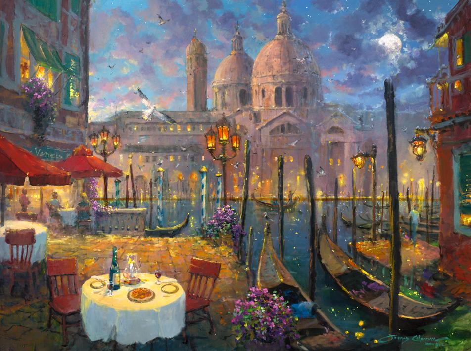 Moonlight in Venice by James Coleman