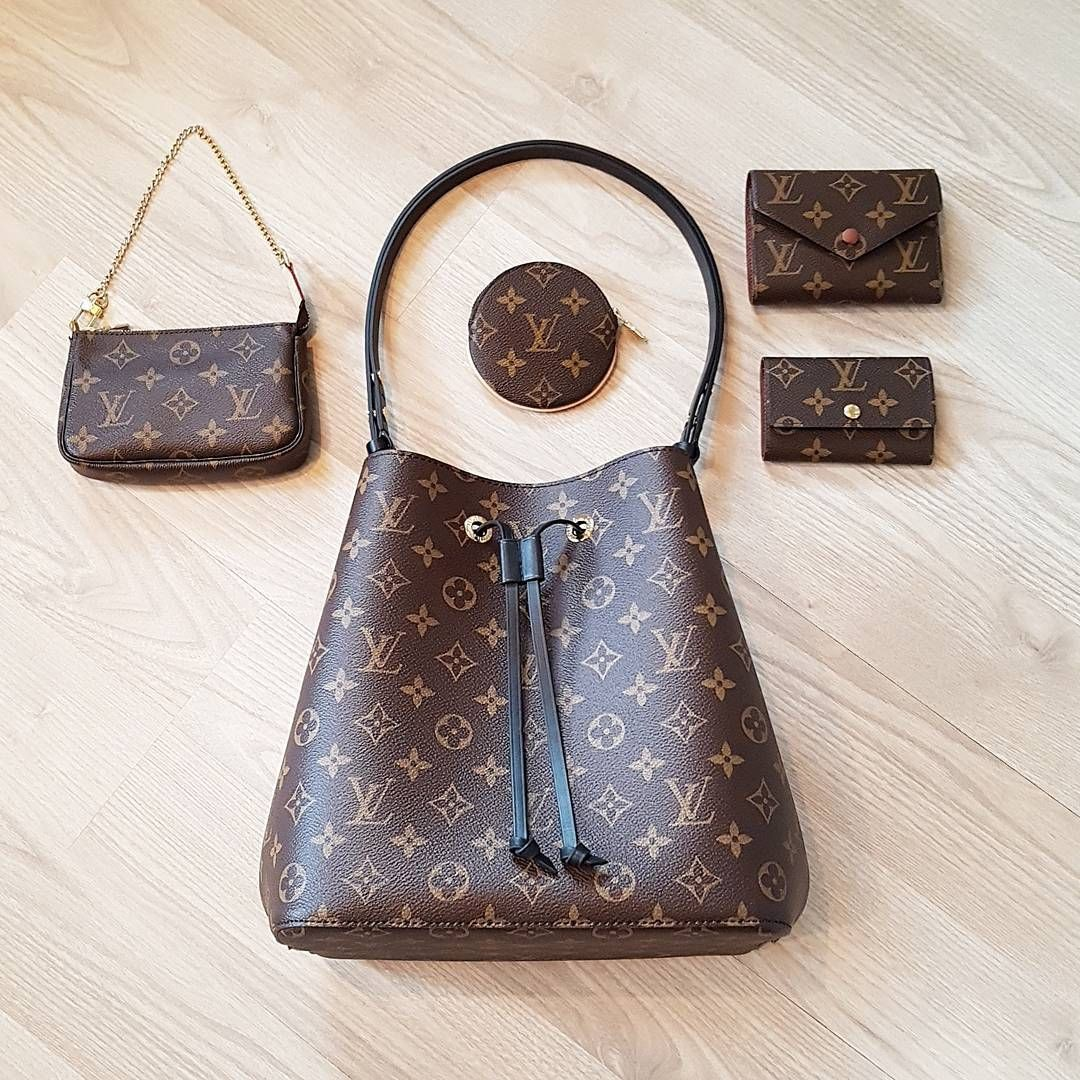 a39b43f7 Fashion Trend, #Louis #Vuitton Monogram Neonoe Bag with Colorful ...