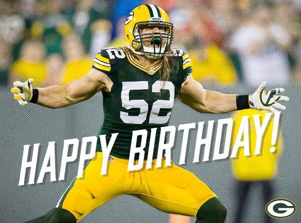Happy Birthday To Clay Matthews Total Packers Clay Matthews Green Bay Packers Birthday Green Bay Packers