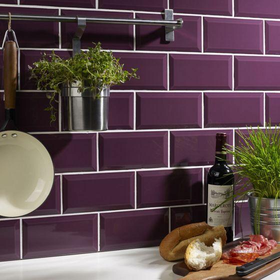 purple kitchen kitchen wall tiles