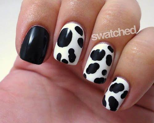 9 simple animal print nail art designs white leopard nail nail 9 best animal print nail art designs simple black and white leopard print design prinsesfo Choice Image
