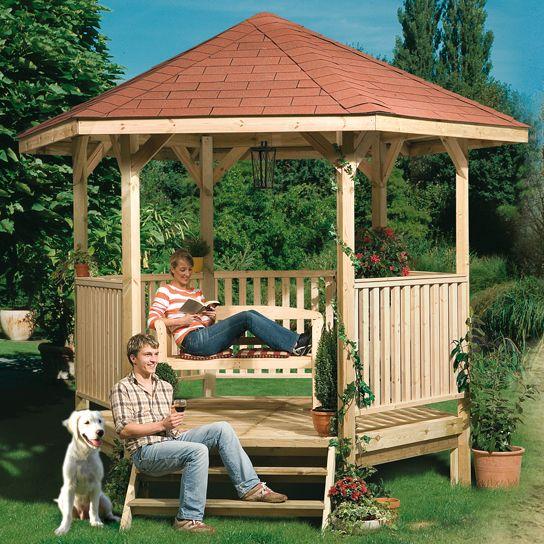 un kiosque romantique au fond du jardin | kiosque de jardin ...