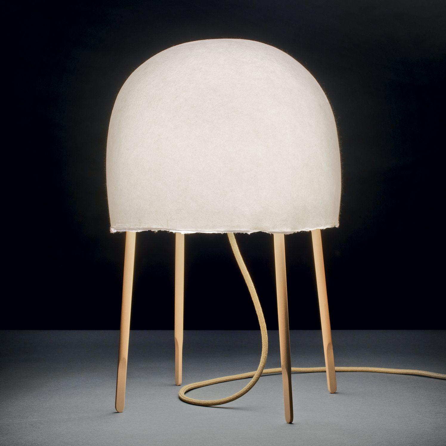 Lampe  poser Bois et Washi Blanc H49cm KURAGE