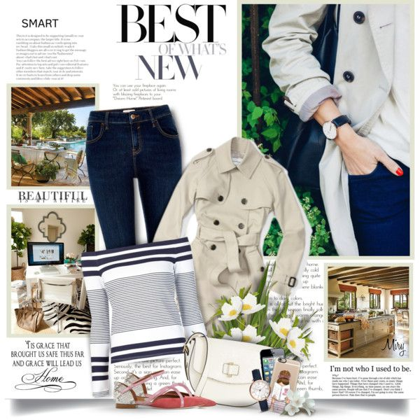 A fashion look from April 2016 by thewondersoffashion featuring Rosetta Getty, Club Monaco, River Island, Malone Souliers, Ann Taylor, FOSSIL, Casetify, Once Up...