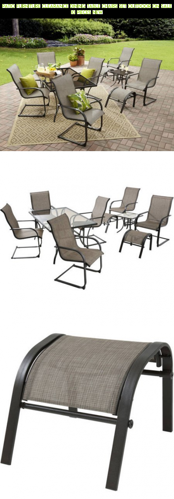 Patio Furniture Clearance Dining Table Chairs Set Outdoor Sale