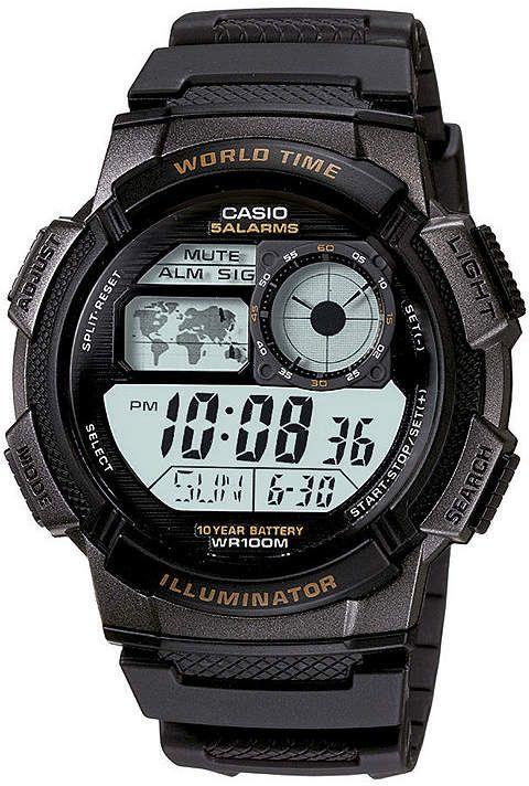 938b6700748 Casio Illuminator Mens Black Bezel Digital Sport Watch AE1000W-1AV ...