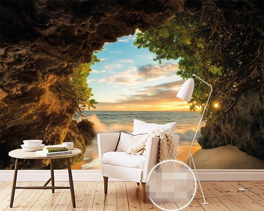 Beibehang Modern Fashion Cave Outside The Sea Beach 3d 3d P