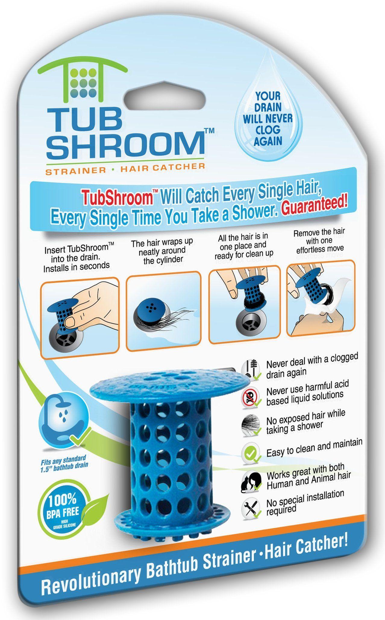 Amazon.com: TubShroom The Revolutionary Shower Tub Drain Protector ...