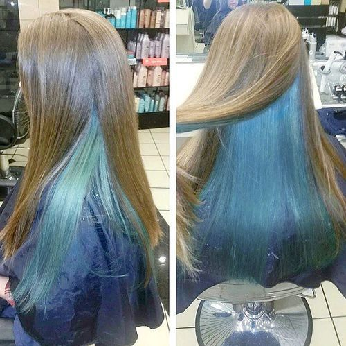 20 Pastel Blue Hair Color Ideas You Have To Try Hair Color Blue Underlights Hair Pastel Blue Hair