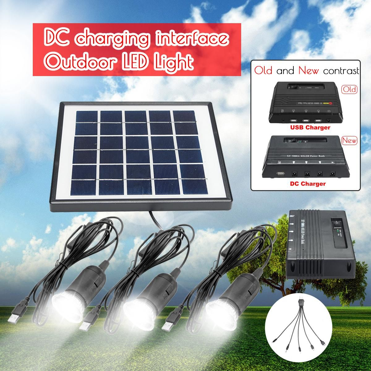 3pcs 1w Solar Lamp Led Garden Light Outdoor Lampe Solaire 6v 4w Solar Panel 5000mah Dc Power Bank For Outdoor Camping Solar Panels Solar Solar Power Diy