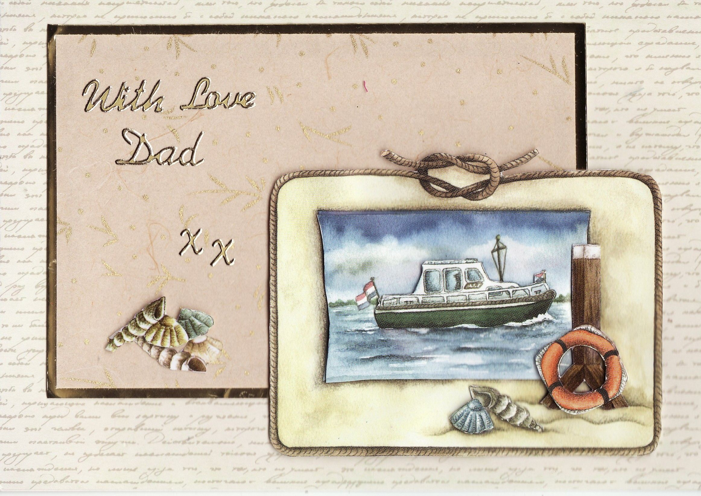 3D 'with love Dad xx' Card (by Tassie Scrapangel)