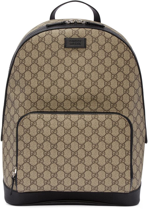 09e39b4619eb Gucci Beige GG Supreme Backpack | Mens Backpacks in 2019