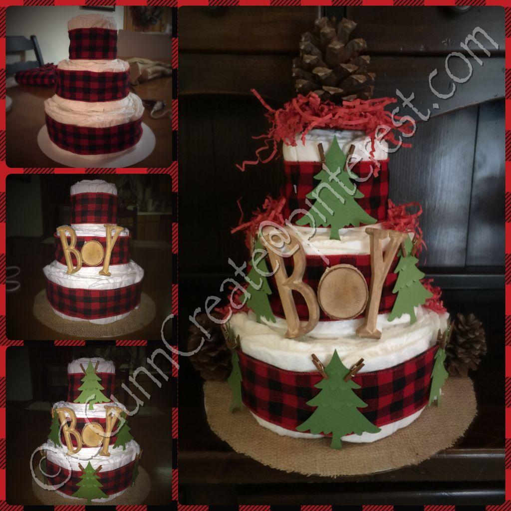 Diaper Cake I Made I Used A Cardboard Cake Round For The