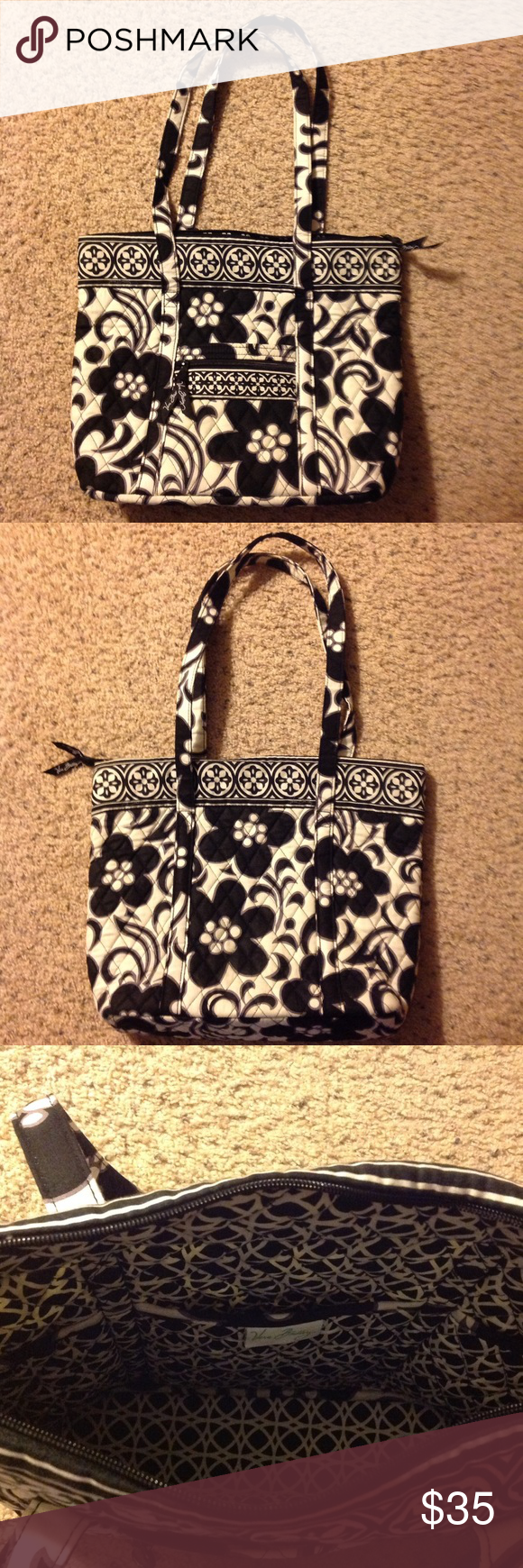 Vera Bradley Bag/Purse This bag has hardly been used! It would make a great bag or purse. It has a zip closure. Vera Bradley Bags Totes