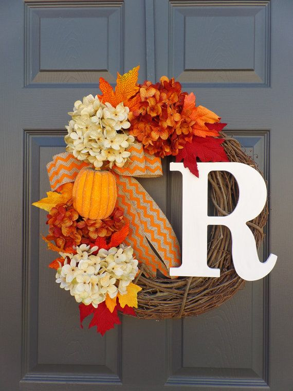hydrangea wreath grapevine wreath monogram wreath personalized wreath monogram wreath