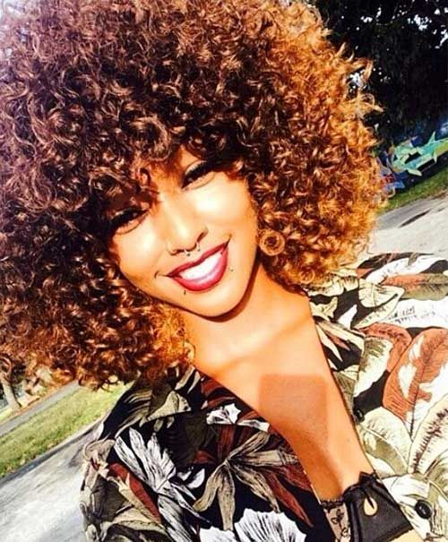 Www Short Haircut Com Wp Content Uploads 2016 05 Short Curly Afro Hairstyles Jpg Natural Hair Styles Curly Hair Styles Hair Styles