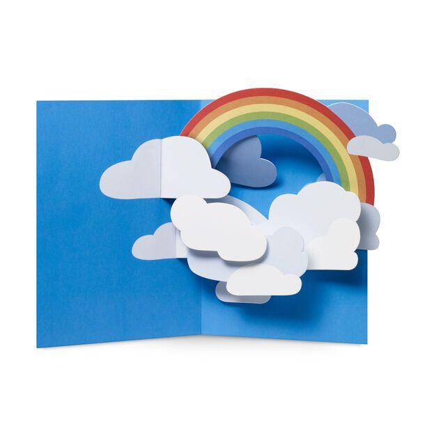 rainbow sky popup note cards  set of 6  diy pop up