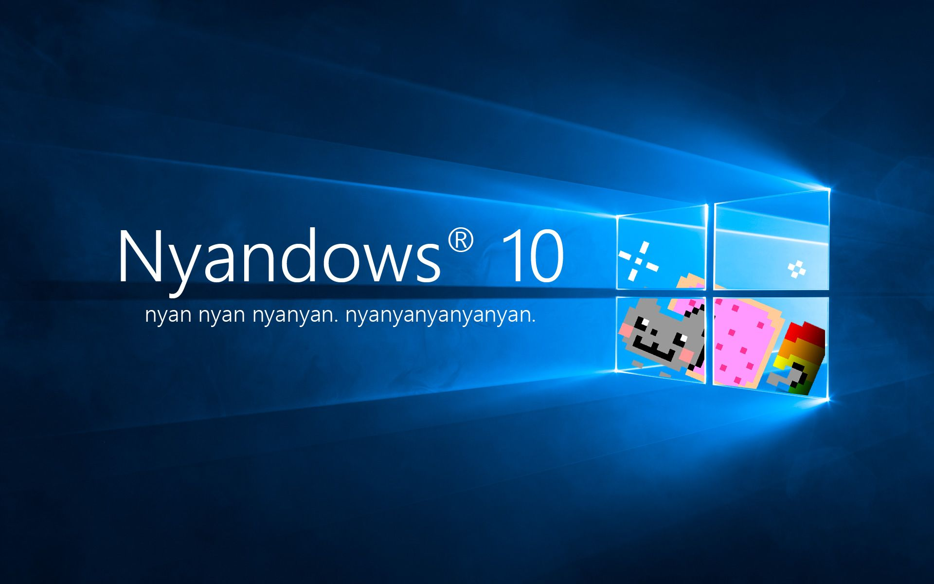 nyan cat Windows 10 Wallpaper [ ]